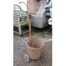 Wicker shopping trolley