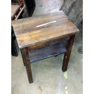Small square plain wood table
