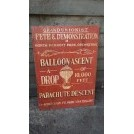Grand Union Balloon Ascent sign