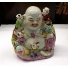 Painted china buddah statue