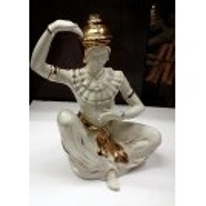 Gold & white china buddha statue