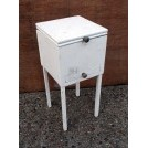 Small white wood cabinet