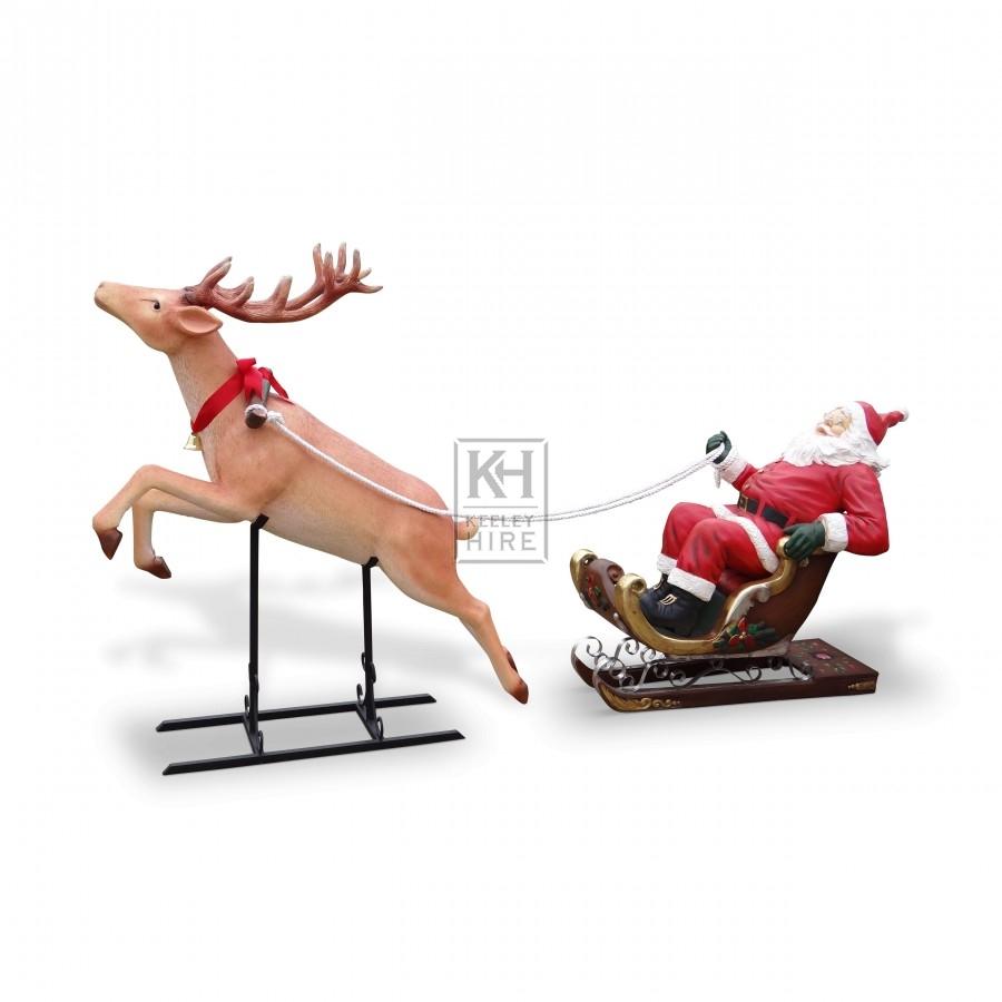 Christmas Prop Hire » Flying Reindeer - Keeley Hire