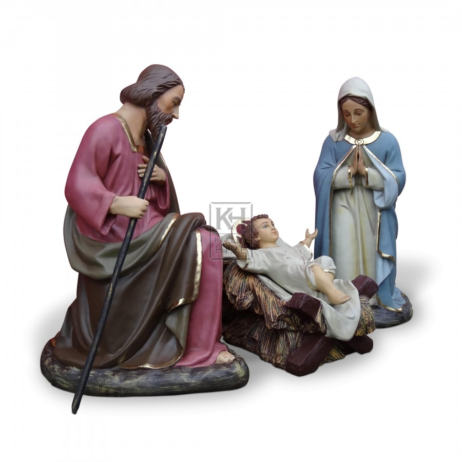 Hire 187 christmas 187 nativity scene half life size set keeley hire
