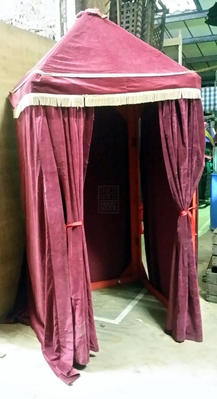 Circus Fairground And Seaside Prop Hire 187 Maroon Velvet