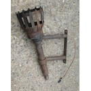 Iron flambeaux torch with bracket