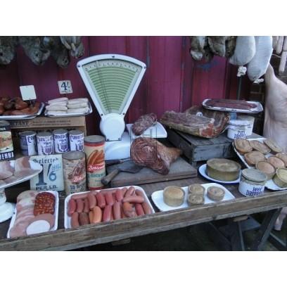 Butchers market stall - dressed