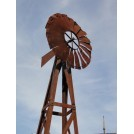 Tall Weathered Farm Wind machine