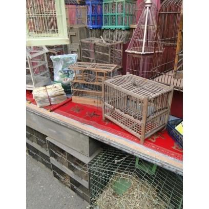 Oriental bird cage market stall