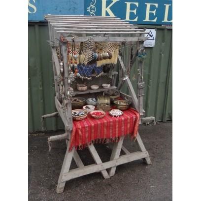 Wood frame market stall
