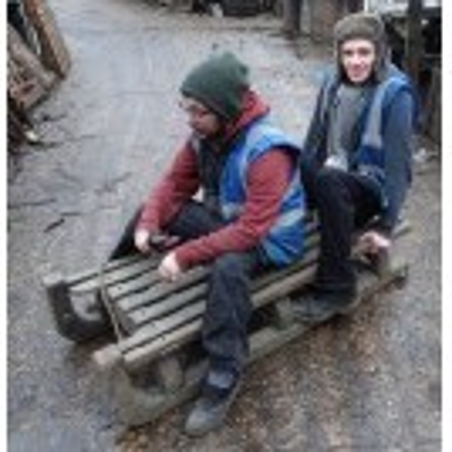 Heavy wood sledge