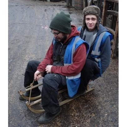 Small wood sledge