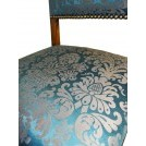 Blue & Gold upholstered chair