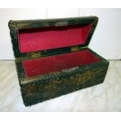 Small dome leather chest