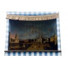 Blue stripe& white punch & judy tent