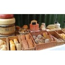 Modern stall dressing - bread & cheese