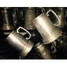Straight Handled Pewter Tankard