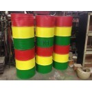 Painted Fibreglass Oil Drums