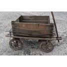 Slatted wood childs trailer cart