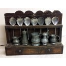 Small wall wood spoon rack