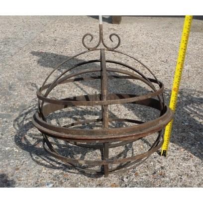 Iron ornate gimble lantern