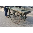 Medium flat cart with rubber tyres