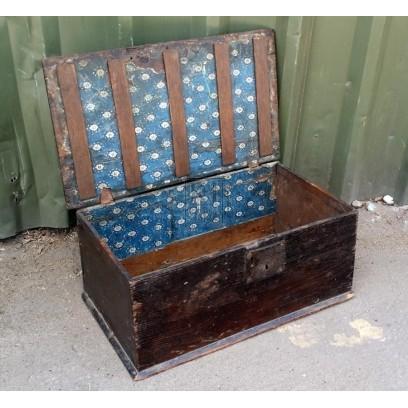 Flat top dark oak polished bible box