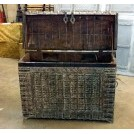 Large wood ornate damachiya chest