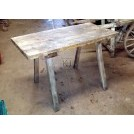 Aged wood market stall table
