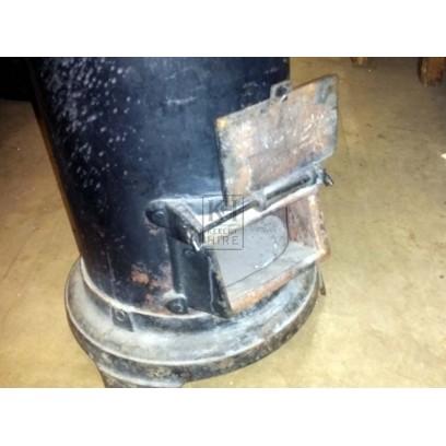 Cylindrical Cast Iron Stove