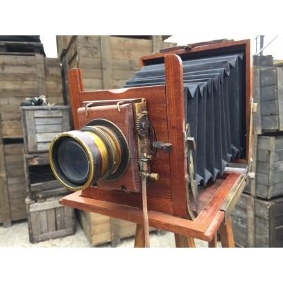 Folding Plate Camera with Tripod