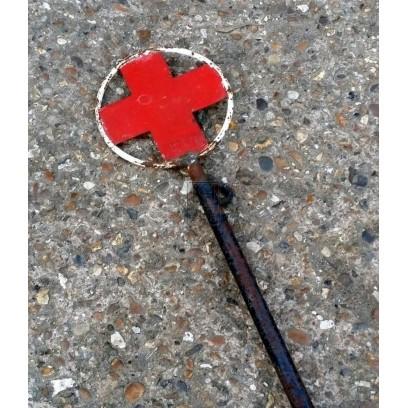 Wartime cross on pole