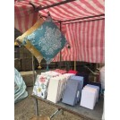 Home & Bedding Market Stall Dressing