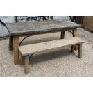 5ft wood bench with curved bar
