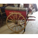 Red Victorian traders cart