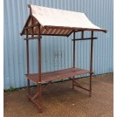 Plain wood market stall