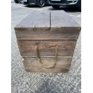 Small Wooden Chest With Rope Handles