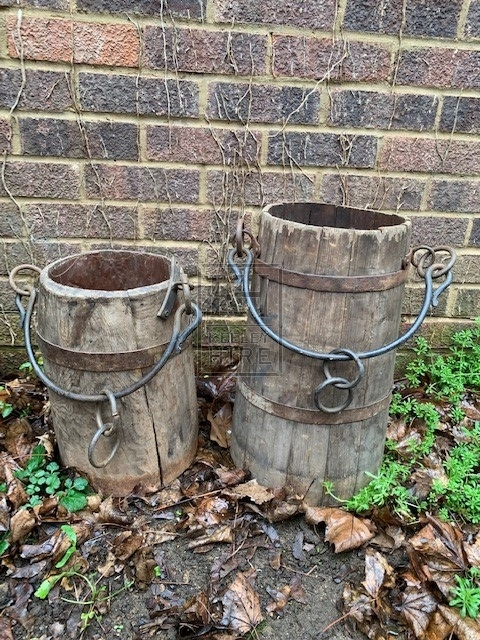 Bucket with Rings and Iron Handle