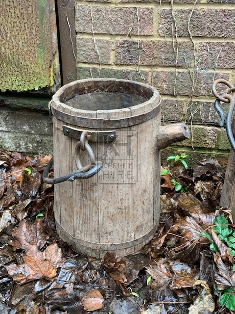 Bucket with Spout and Iron Handle