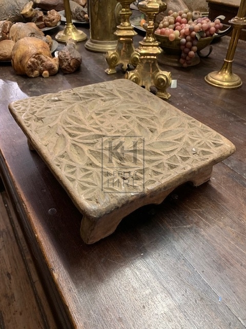 Decorative Low Carved Plinth