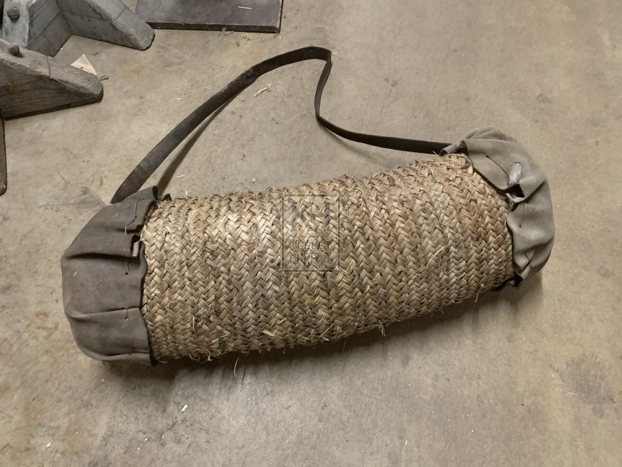 Wicker Bag with Leather Ends