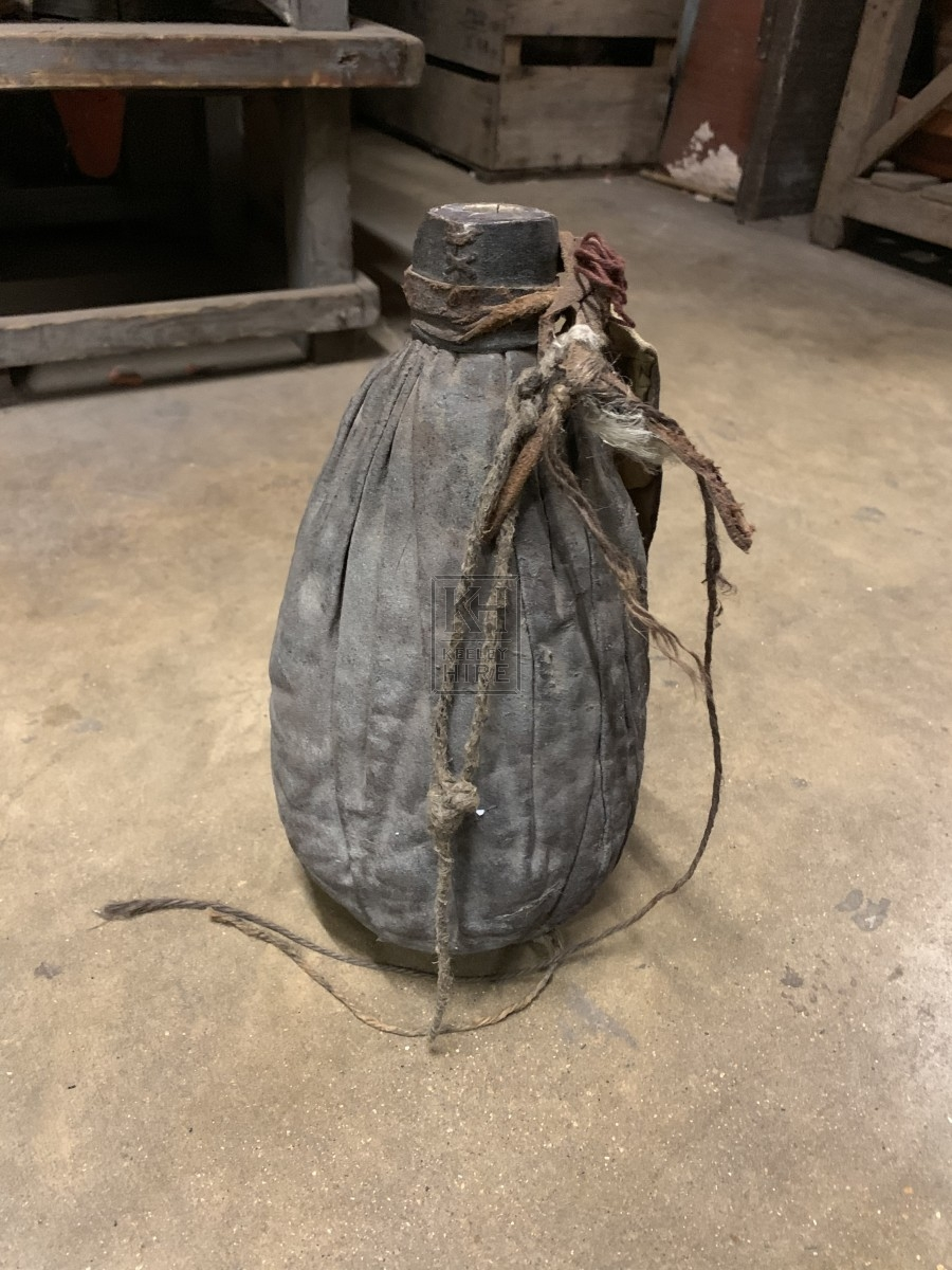 Leather Wrapped Bottle with String