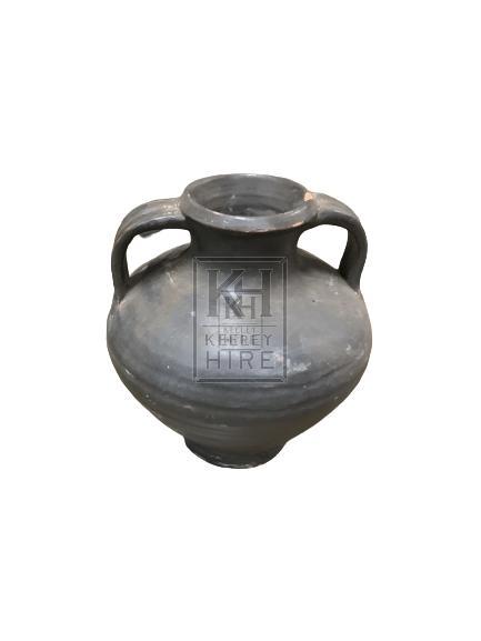 Dark 2 Handled Bulbous Urn - Small