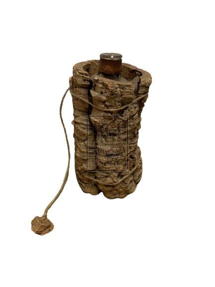 Bark Covered Bottle