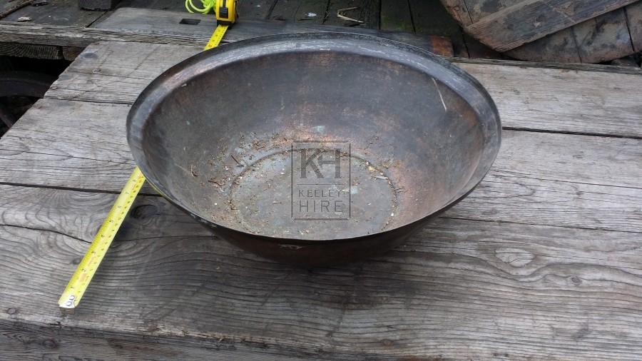 Large copper wash bowl