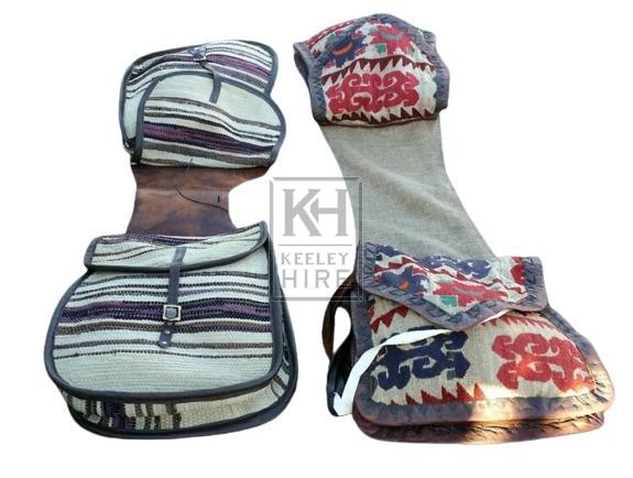 Canvas saddle bags
