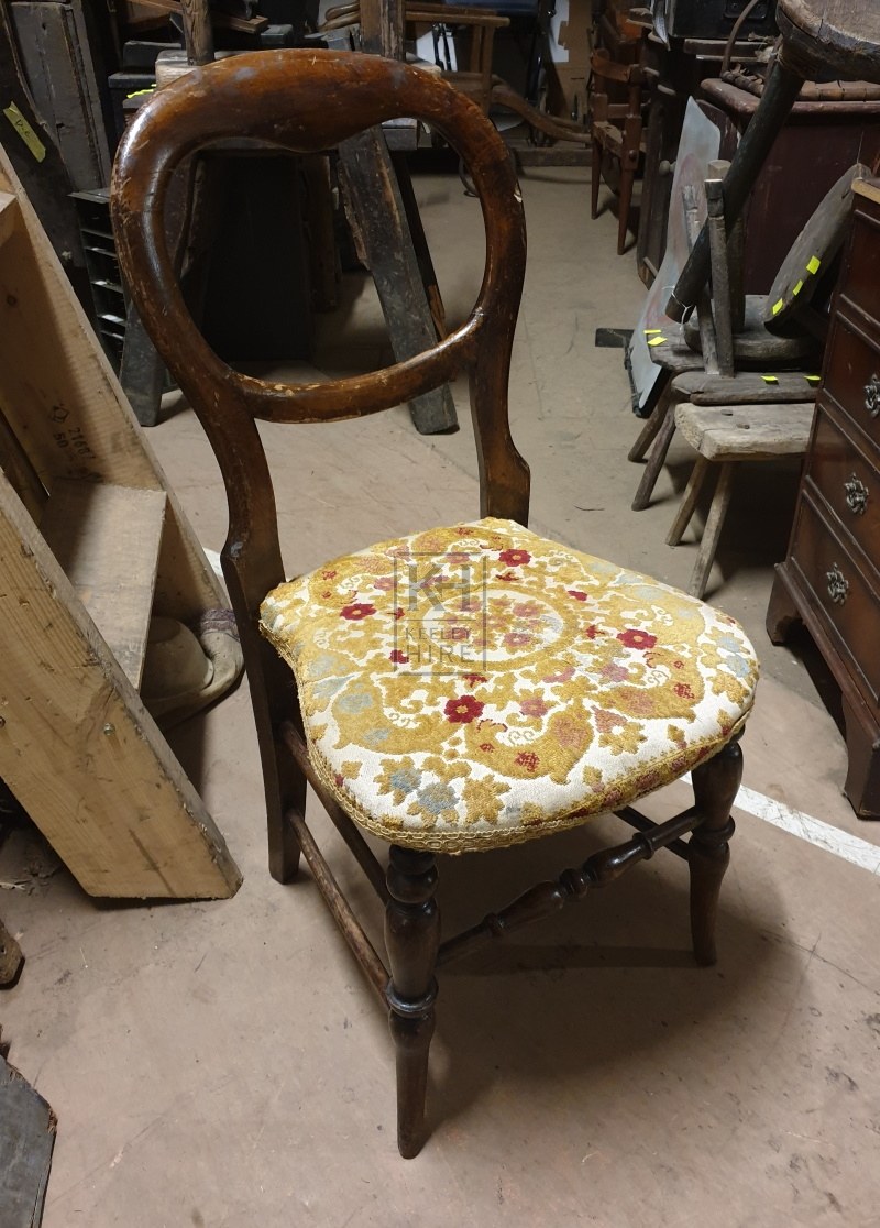 Floral seated chair