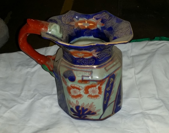 Ceramic blue pattern jug