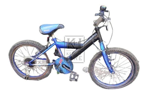 Childrens black & blue bicycle - modern