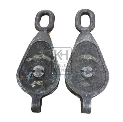Metal single pulley
